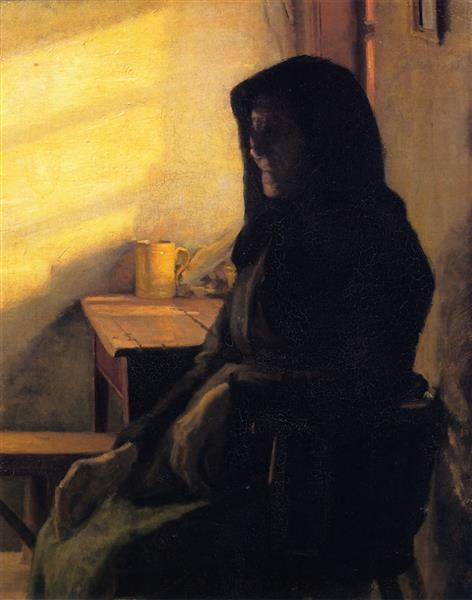 A Blind Woman in Her Room, Anna Ancher, 1883