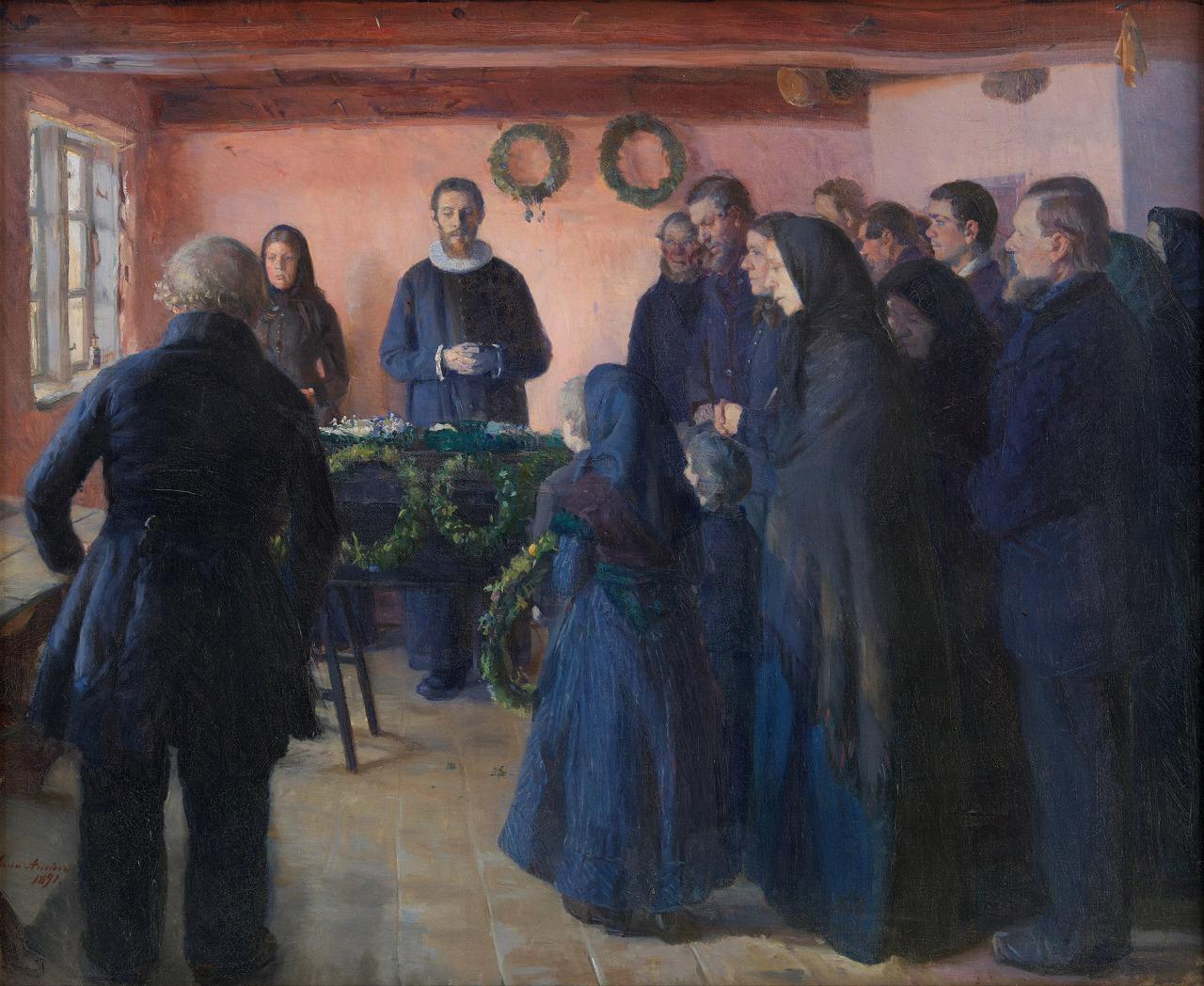 Anna Ancher, Un funeral,1891
