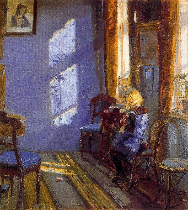 Anna Ancher, Rayos de sol en la Habitación azul. 1891