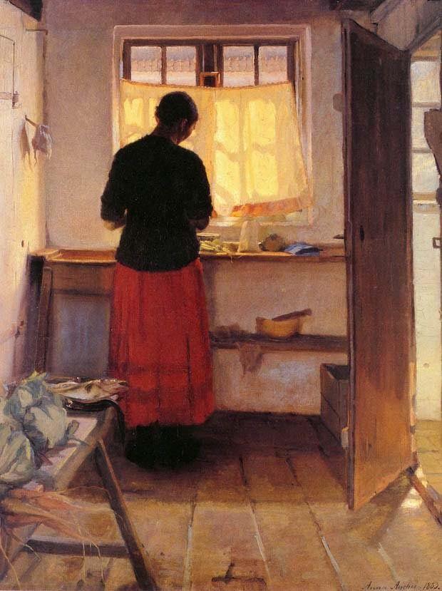 Anna Ancher, Mujer en la cocina, 1883-1886