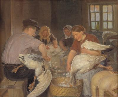 Desplume del ganso navideño , 1904