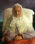 Anna Ancher, Retrato de Ane Hedvig Møller, la madre del artista, 1913