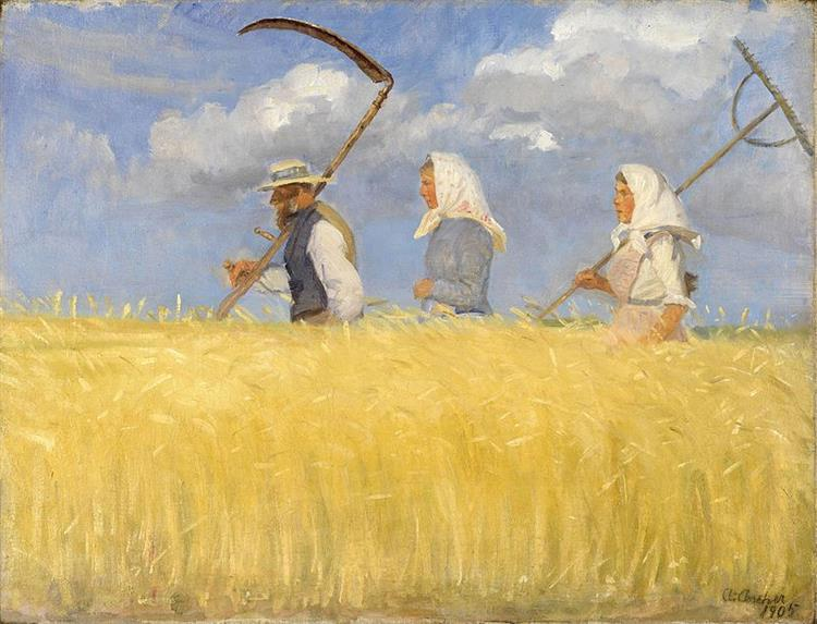 Harvesters, Anna Ancher, 1905