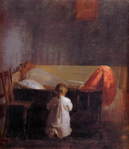 Anna Ancher, Oración de la tarde, 1888