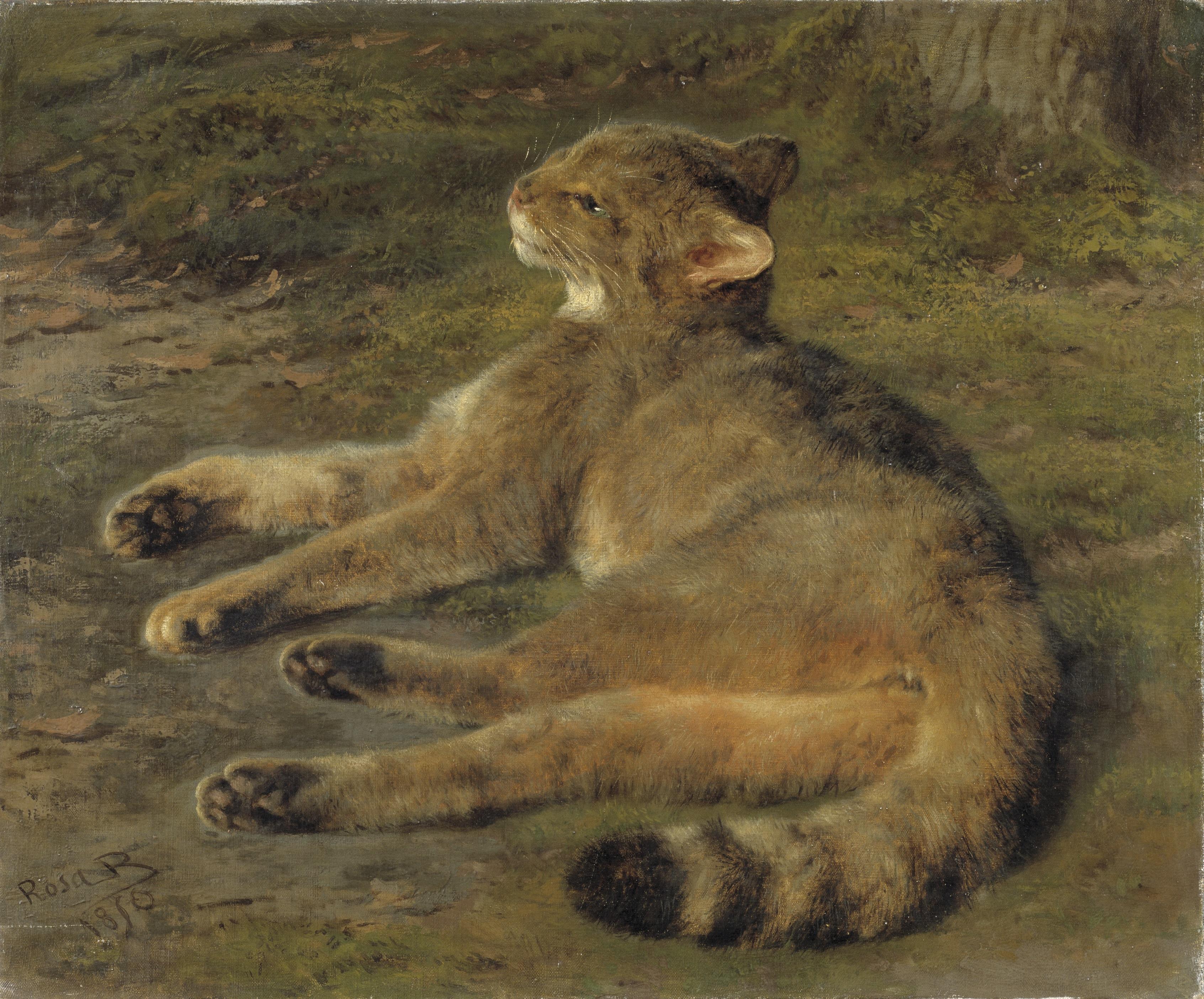 Wild Cat. Rosa Bonheur. 1850