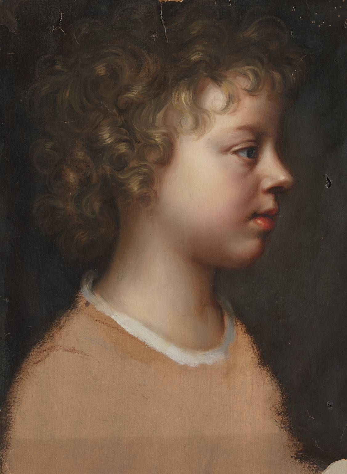Sketch of the Artist's Son, Bartholomew Beale, in Profile c. 1660 by Mary Beale 1633-1699