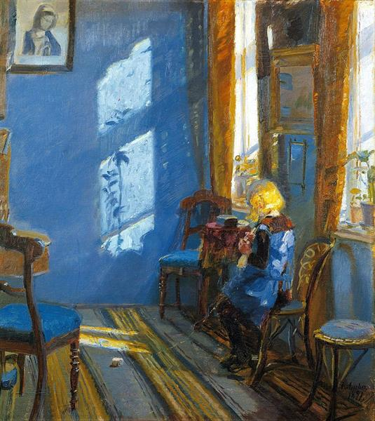 Sunlight in the Blue Room