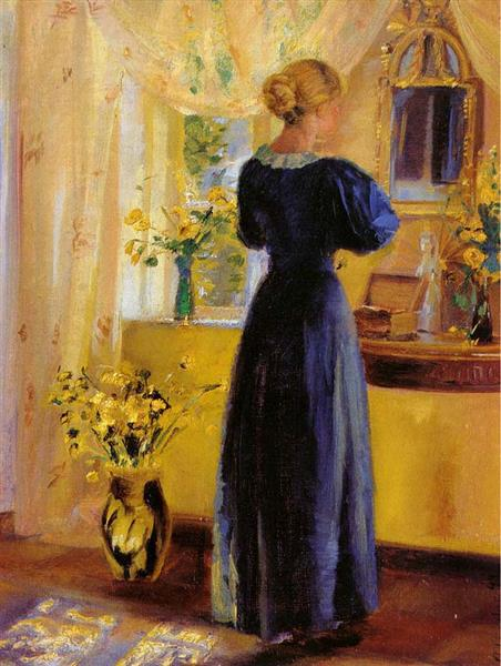 Young Woman in front of a Mirror, Anna Ancher, 1899